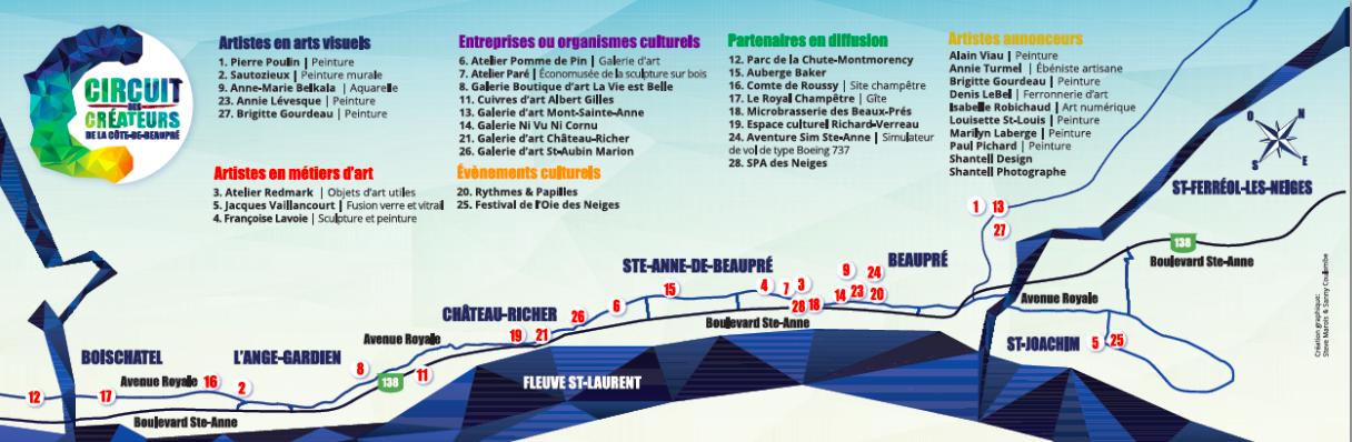 Circuit des créateurs de la Côte-de-Beaupré 2019