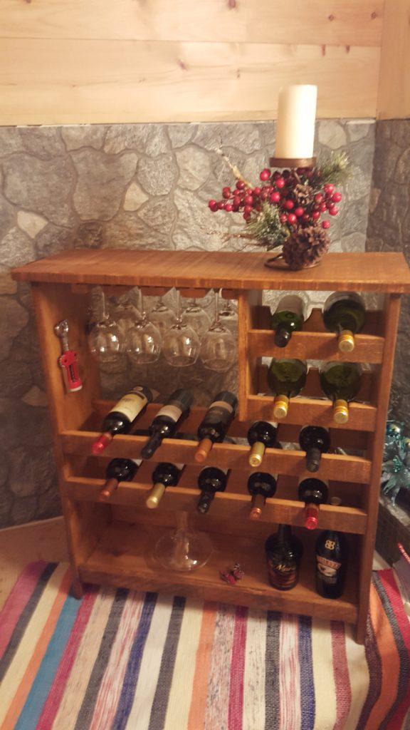 rangement pour le vin  250,00$
